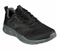 Black Skechers Shoes Men's Memory Foam Walk Train Comfort Workout Slip On 232026