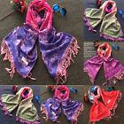 Fashion Women Soft Pashmina Scarf Wrap Shawl Stole Flower Cashmere Warm Scarves