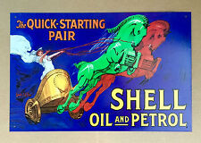 Shell Oil and Petrol The quick-starting pair - Tin Metal Wall Sign