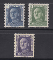 SPAIN (1946/47) - MLH COMPLETE SET Sc# 713/15 EDIFIL 999/01 FRANCO - LOT 1