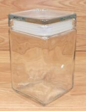 """Anchor Hocking 7"""" (inch) Square Clear Glass Candy / Cookie Jar With Lid **READ**"""