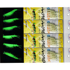10 Packs Luminous Shrimp Sabiki Bait Rig Glitter Glow in Dark Saltwater Lure Rig