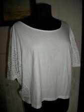 Tee shirt manche chauve souris clouté LE TEMPS DES CERISES XS 34/36 coton blanc