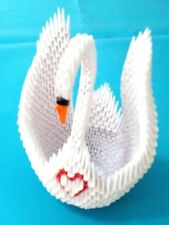 Extra Large Hand-made 3D Origami Swan, - Great for Wedding, Bridal Shower !!