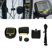 Wireless LCD Bike Computer Speed Odometer Speedometer Cycle Bicycle Waterproof