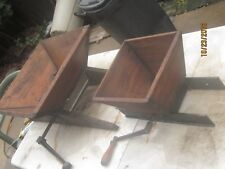Antique Oasis No 14 Wood Hoppers Cast Iron Grape Crusher Wine Maker Tools