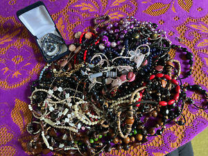 Large Job Lot of Jewellery Necklaces, Beads, Bracelet, Earrings, Chains