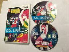 2 x NINTENDO Wii GAMES JUST DANCE 3 + 4 SPECIAL EDITION DISC BOTH PAL