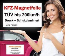 2x AUTO TARGA MAGNETICA PELLICOLA magnetico 40x20cm per auto-Pubblicità incl. stampa digitale