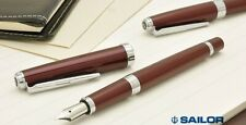 [Fine nib] SAILOR Reglus Fountain Pen Bordeaux Red Stainless Steel Japan