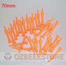 50 x 70 mm Orange Plastic Golf Step Tees castle tees  1 pack of 50