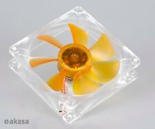 Akasa AK-184-L2B Ultra Quiet 90mm Amber Case Fan 2 Ball Bearing
