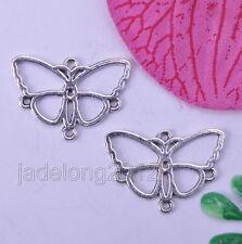 Wholesale 20pcs Tibetan Silver Butterfly Earring Connectors NH119