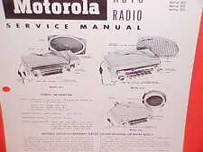 1955 DODGE PLYMOUTH DESOTO FIREDOME CONVERTIBLE MOTOROLA AM RADIO SERVICE MANUAL