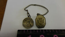 STERLING MASONIC POCKET WATCH FOB & CHAIN  normal park chapter #210 1912
