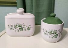 "Lot 2 set CALLAWAY IVY JAY IMPORTS ceramic 4¼"" SUGAR dispenser & napkin holder"