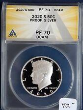2020-S PF-70 DCAM .999 Silver Kennedy Half Dollar