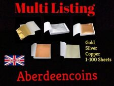 1-100 x Sheets Gold Silver Copper Leaf Art + Crafts Scrapbooking Gilding Framing