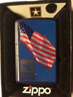 Zippo Lighter 239 US Army Flag
