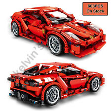 Techinque Series Racing Car Building Blocks Pull-back Cars Toys Bricks 603PCS