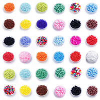 1000 Pcs DIY Czech Glass Beads Pearl Loose Spacer Beads Jewelry Making 2mm