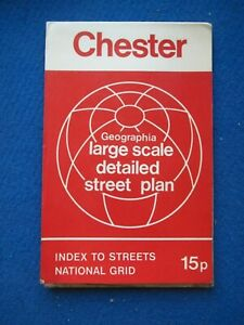 Geographia Official Street Map & Street Index - Chester   c1973