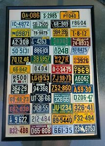 1953 COMPLETE SET Wheaties United States Bicycle Bike License Plates FRAMED