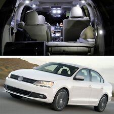 Error Free White 8 LED SMD Light Interior Bulb Kit for VW Jetta 2011-2014 12 13