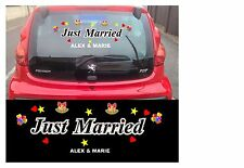 Colour Printed Just Married Wedding Car Window Sticker Decal Confetti Bells  etc