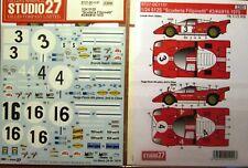 DECAL: 1/24 S271137 1970 SCUDERIA FILIPINETTI TEAM FERRARI 512S