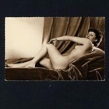 Erotik NUDE WOMAN w BOW & ARROW Aktfoto Akt Studie * Vintage 30s French Photo PC