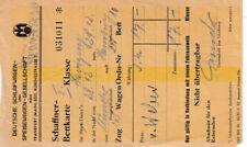 ANTIGUO BILLETE para Vagón Dormitorio bettkarte 2. Klasse (agk1730)