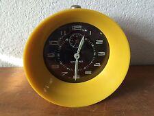 SUPERBE  réveil BAYARD Vintage des années 70's jaune