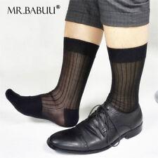 3/6/12Pairs Pack Men's Dress Socks,100% Nylon,Black TNT Summer Cool Sheer Socks