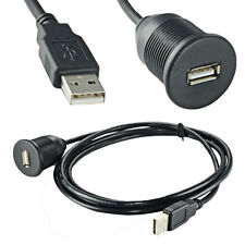 2M USB Extention Cable Cord With Dash Mounting Bracket Flush Drill Mount Kit