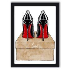 Fashion Art Wall Art Beauty Dressing Room Office Art Designer Shoes Louboutin