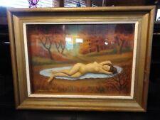 Rare! THOMAS ATTARDI Original Signed Sculpture / Oil Painting Shadowbox
