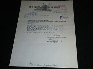 AMAZING 1947 Ann Arbor Brewing Company, Ann Arbor, Michigan Vintage Letterhead