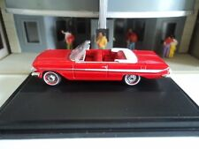 Oxford  1961 CHEVROLET  IMPALA  Conv.   Red   1/87  HO  diecast   GM  NEW