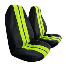 New GT Racing Style Throw Over Slip On Car Seat Covers 2PCS For Most Cars SUVs