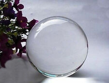 40MM ASIAN CLEAR Glass CRYSTAL BALL SPHERE + STAND aa2