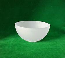 15cm dia. verre givré bol abat-jour. 4cm trou (remplacement lumière demi-sphère)