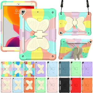 """For iPad 5th 6th 7th 8th 9th Gen 10.2"""" Air Pro Shockproof Stand Case Cover Strap"""