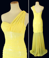 Hailey Logan $145 Yellow Prom Formal Cruise Full Long Dress Size 5 Junior Cruise