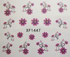 Accessoire ongles, nail art , Stickers décalcomanie, fleur et bouquet roses