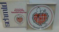 Schmid Charles Schulz Peanuts Snoopy Valentine's Day Plate 1977 MIB