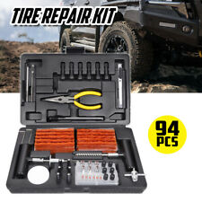 94PCS Tyre Puncture Repair Recovery Kit Heavy Duty 4WD Offroad Plugs Tubeless