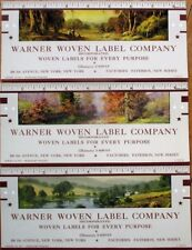 Paterson, NJ 1944 Advertising Blotters - SET OF THREE w/Rulers - Woven Label Co.