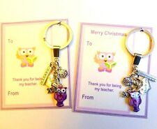 Wise Owl for Teacher Thank You Key-ring Gift Christmas or End of Term Gift