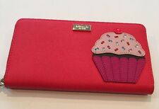 New Kate Spade Take The Cake Cupcake Neda Zip Around Wallet